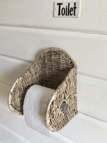 Toilettenpapierhalter aus Rattan