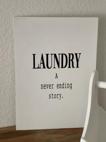 Schild Laundry