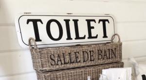 Toilette Schild Vintage