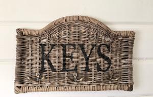 Schlüsselboard,Rattan, ,,Keys``