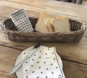 Baguettekorb aus Rattan